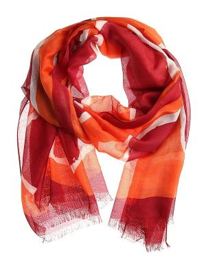 Платок Migura. Цвет: оранжевый, белый, красный