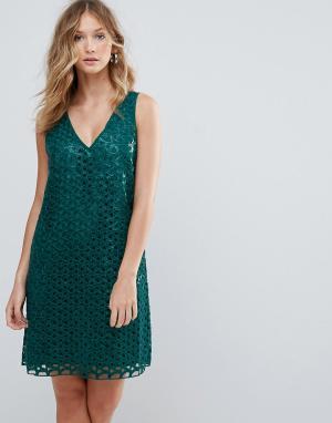 Deby Debo Кружевное коктейльное платье Heloise. Цвет: синий