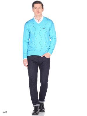 Пуловер BELLAVIA. Цвет: бирюзовый