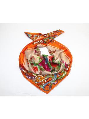 Платок Dolci Capricci. Цвет: оранжевый