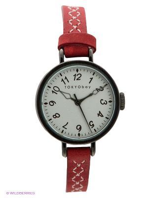 Часы TOKYObay. Цвет: малиновый
