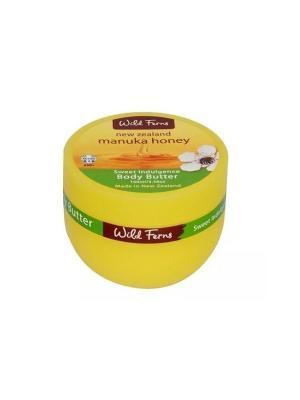 Питательный крем для тела Manuka Honey Body Butter с медом манука и маслом сладкого миндаля, 100 мл WildFerns. Цвет: белый