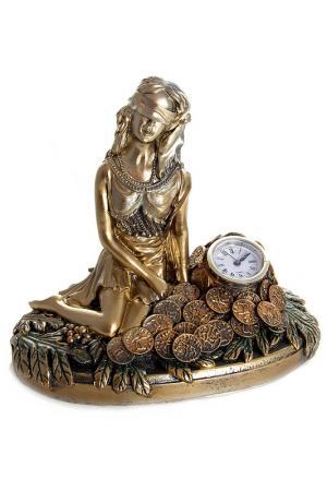 Часы настольные Фортуна Русские подарки. Цвет: бронзовый