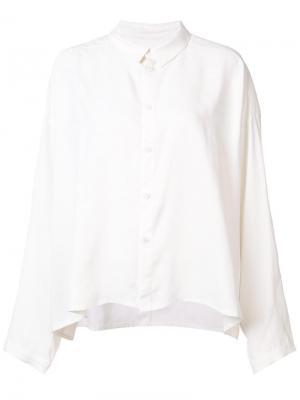Драпированная рубашка Draughtsman Toogood. Цвет: белый