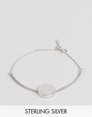 Olivia Burton Серебряный браслет из цепочки с диском. Цвет: серебряный
