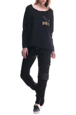 Костюм: кофта, брюки Majaly. Цвет: черный