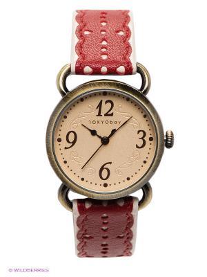 Часы TOKYObay. Цвет: красный