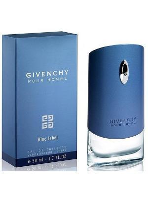 Pour Homme Blue Label GIVENCHY. Цвет: голубой