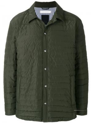 Стеганое пальто Tatras. Цвет: зелёный