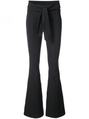 Расклешенные классические брюки Helmut Lang. Цвет: чёрный