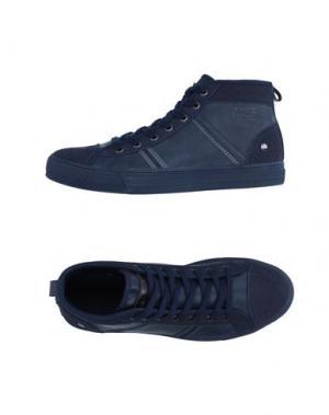 Высокие кеды и кроссовки MONTEFIORI. Цвет: темно-синий