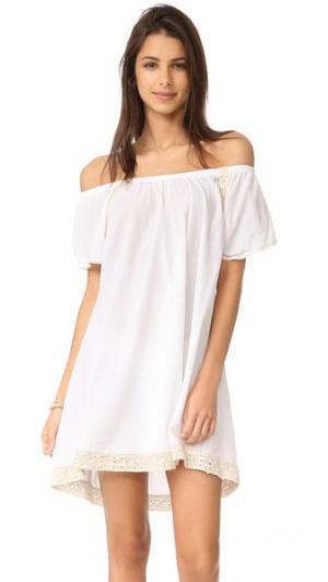 Платье со спущенными плечами Hanalei 9seed. Цвет: белый