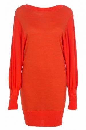 Утепленное платье с длинными рукавами SONIA BY. Цвет: оранжевый