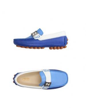 Мокасины FENDI. Цвет: небесно-голубой