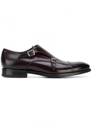 Классические туфли-монки Henderson Baracco. Цвет: розовый и фиолетовый