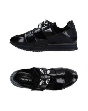 Низкие кеды и кроссовки LORENZO MARI. Цвет: черный