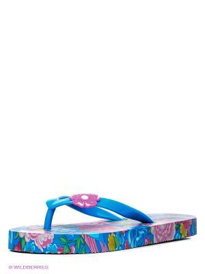Шлепанцы Kakadu. Цвет: голубой, розовый