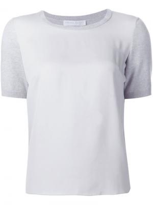 Трикотажная футболка Fabiana Filippi. Цвет: серый