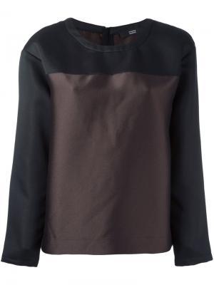 Блузка мешковатого кроя Steffen Schraut. Цвет: коричневый
