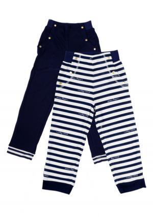 Комплект : брюки, 2 шт Lucky child. Цвет: синий (синий, белый)