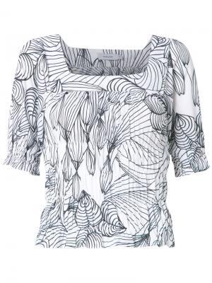 Блузка с принтом Isolda. Цвет: белый