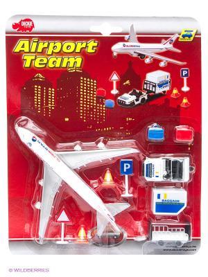 Игровой набор Аэропорт, 24*30 см., 6/48 Dickie. Цвет: белый, красный, серый