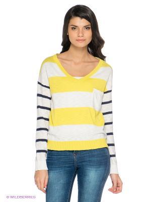 Пуловер Emoi by Emonite. Цвет: белый, желтый
