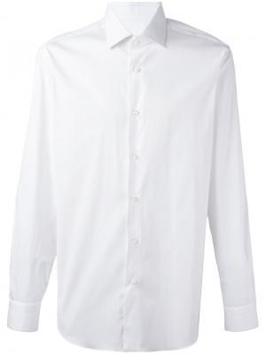Рубашка кроя слим Barba. Цвет: белый