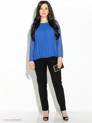 Блузка Vera Mont. Цвет: синий