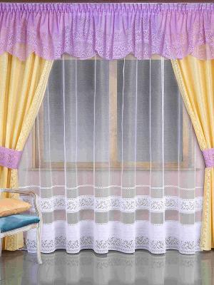 Комплект штор Wisan. Цвет: сиреневый, желтый, белый