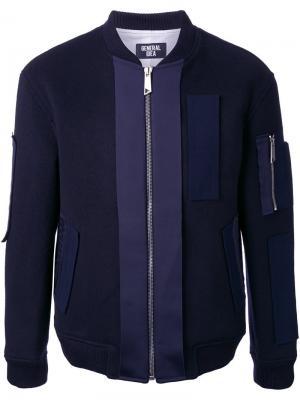Классическая куртка бомбер General Idea. Цвет: синий
