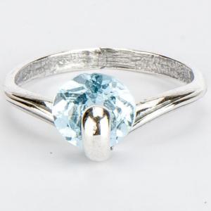 Кольцо вега топаз голубой Бусики-Колечки