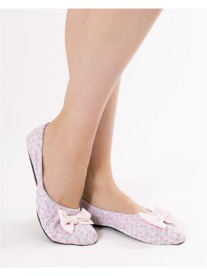 Тапочки Mark Formelle. Цвет: розовый, серый меланж