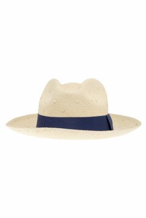 Соломенная шляпа Clasico Natural Artesano. Цвет: кремовый, синий