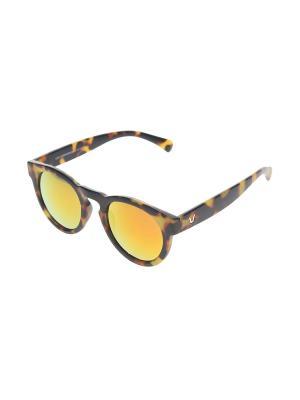 Очки солнцезащитные Gusachi. Цвет: коричневый, желтый, черный