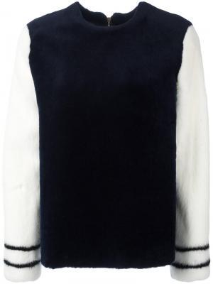 Куртка из меха норки Ines & Marechal. Цвет: синий