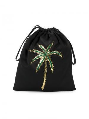 Рюкзак с пальмой из пайеток Attico. Цвет: чёрный