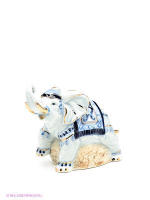 Фигурка Слон Pavone. Цвет: голубой, бежевый, синий