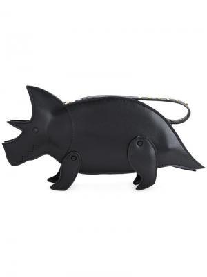 Клатч в виде носорога Muveil. Цвет: чёрный