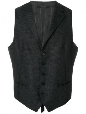 Классическая жилетка Tagliatore. Цвет: серый