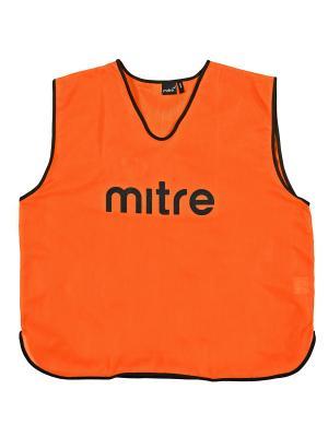 Накидка тренировочная MITRE. Цвет: оранжевый