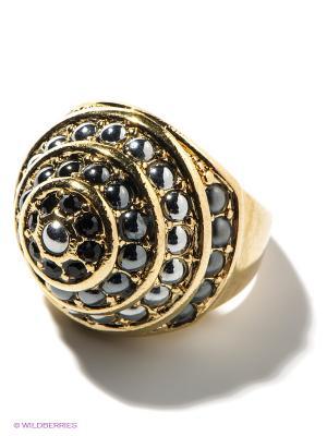 Кольцо Jenavi. Цвет: золотистый, серый