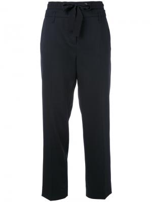 Укороченные брюки на шнурке Dorothee Schumacher. Цвет: синий