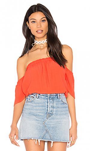 Топ с открытыми плечами BLQ BASIQ. Цвет: оранжевый