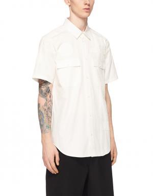 Хлопковая рубашка Alexander Wang. Цвет: белый