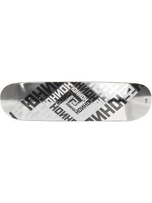 Профессиональный скейтборд Team Silver, размер 8,125x32, конкейв Medium Юнион скейтборды. Цвет: черный, белый, серый