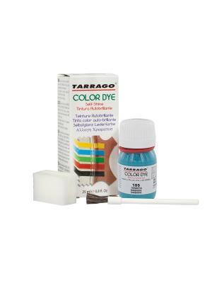 Краситель  для гладкой кожи TDC01 COLOR DYE, стекло, 25мл. (105 бирюзовый) Tarrago. Цвет: бирюзовый