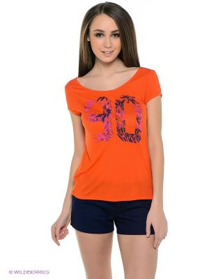 Футболка CRUSHINA J TEES NPM0 ROXY. Цвет: оранжевый