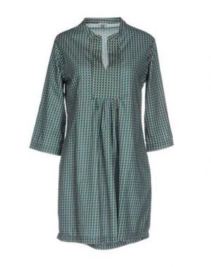 Короткое платье PYAAR. Цвет: зеленый