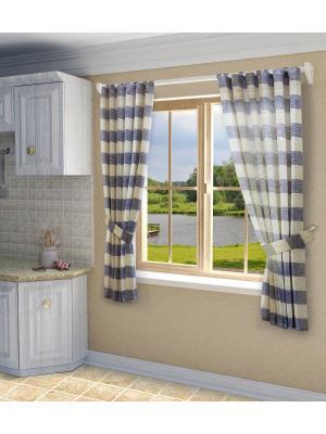 Комплект штор SANPA HOME COLLECTION. Цвет: голубой